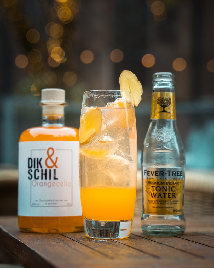 Orangecello Tonic duurzame cocktail gember fever tree